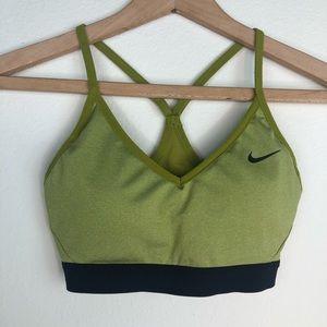 Olive Green Nike Dri-Fit Sports Bra